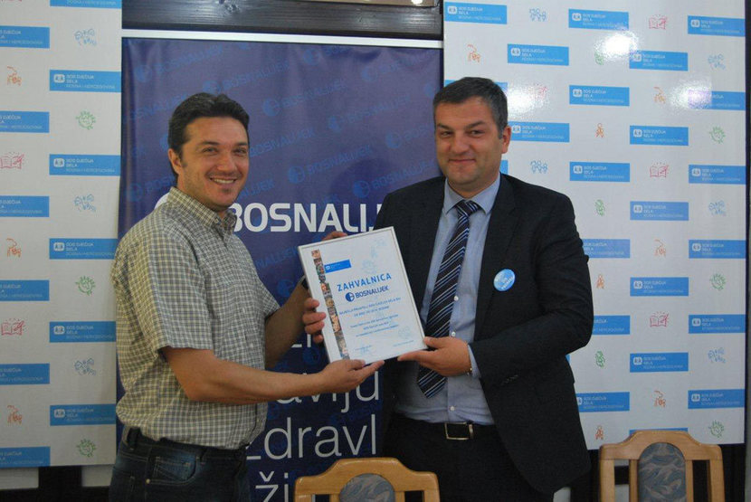 Bosnalijek Donates 32, 000 BAM to a family from the SOS Children's Village